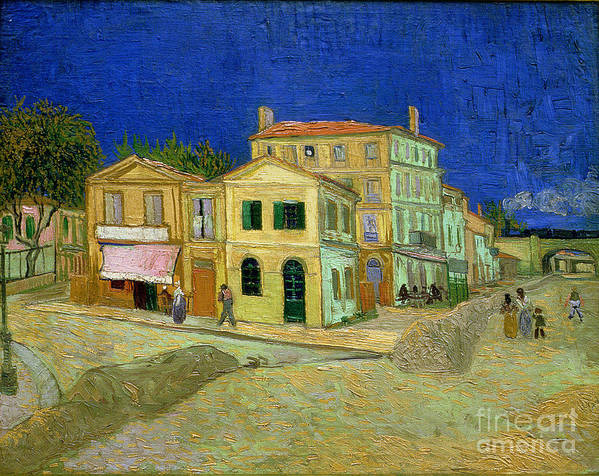 The Art Print featuring the painting The Yellow House by Vincent Van Gogh