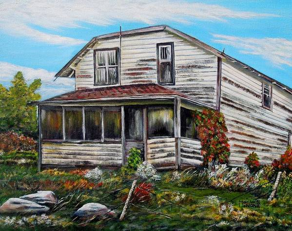 House Art Print featuring the painting This Old House 2 by Marilyn McNish