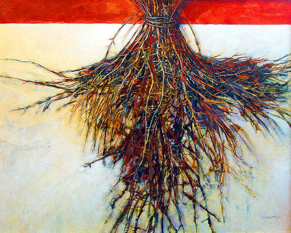 Tree Art Print featuring the painting Thorn Zia by Dale Witherow