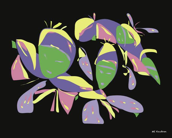 Digital Art Print featuring the digital art Three Geishas by ME Kozdron