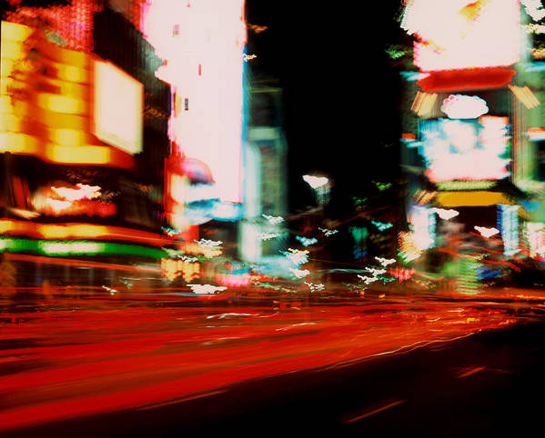Light Art Print featuring the photograph Times Square Painted by Brad Rickerby