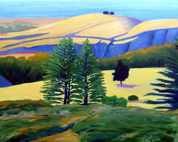 Landscape Art Print featuring the painting Transitions by Gary Coleman