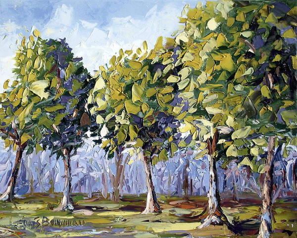 Landscape Art Print featuring the painting Trees by Lewis Bowman