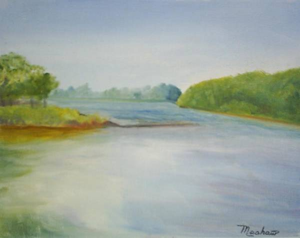 Delaware River Art Print featuring the painting View Of The Delaware by Sheila Mashaw