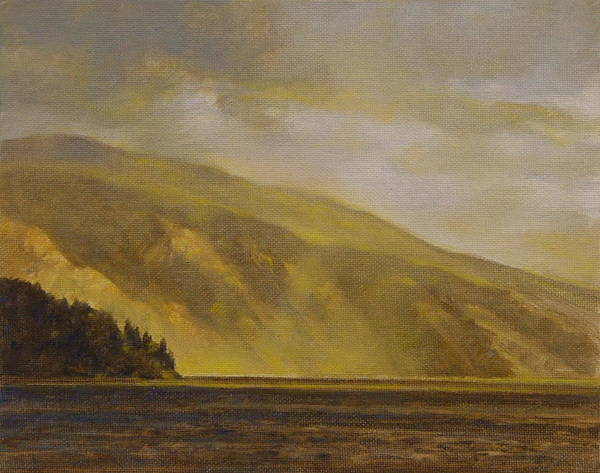 Landscape Art Print featuring the painting View Of The Monarchs by Gary Kaemmer