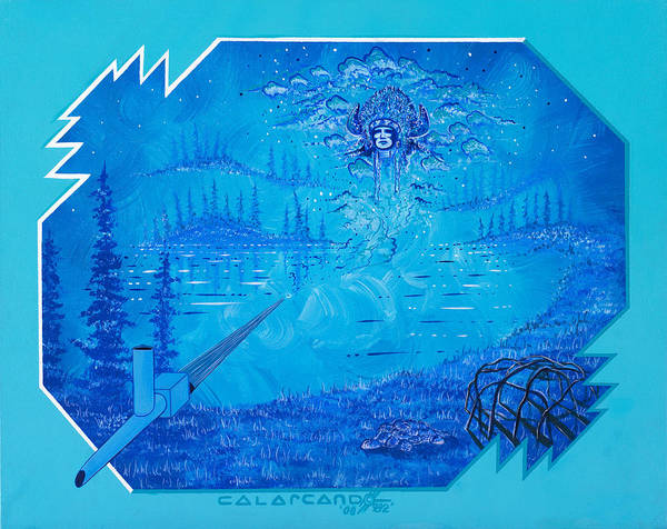 Vision Art Print featuring the painting Vision by Cal Arcand