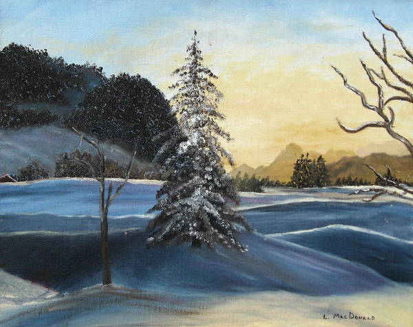 Landscape Art Print featuring the painting Walk On Walk On by L A Raven