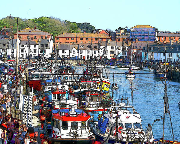 Weymouth Art Print featuring the photograph Weymouth Harbour by Paul Hemmings