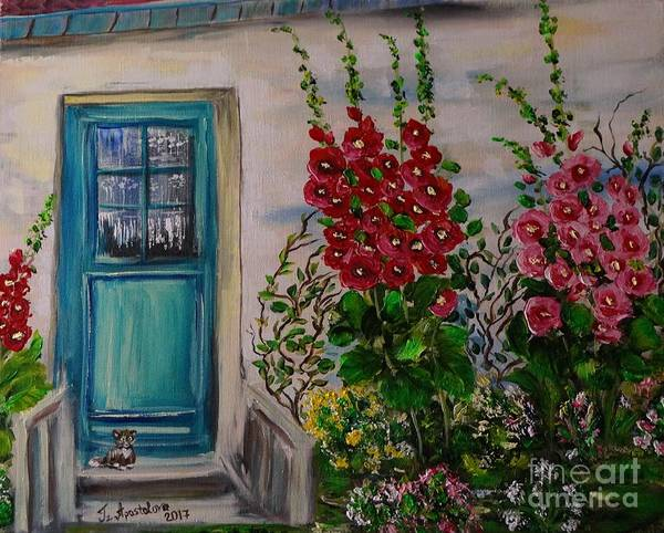 Acrylic Art Print featuring the painting Wherein ... 2 by Tzvetanka Apostolova
