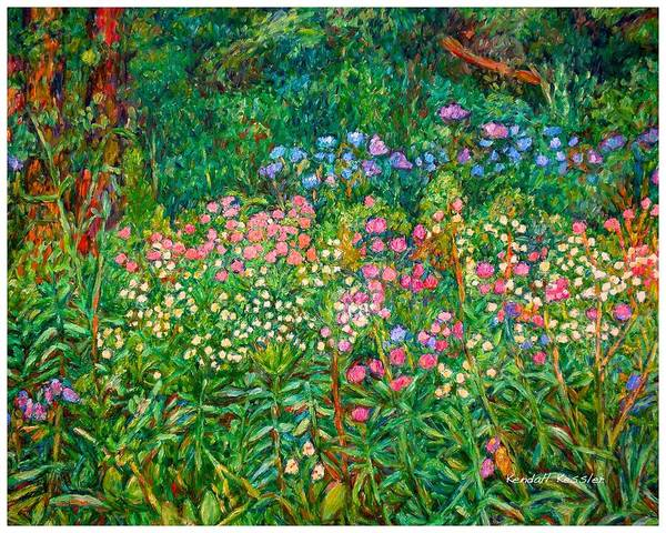 Floral Art Print featuring the painting Wildflowers Near Fancy Gap by Kendall Kessler