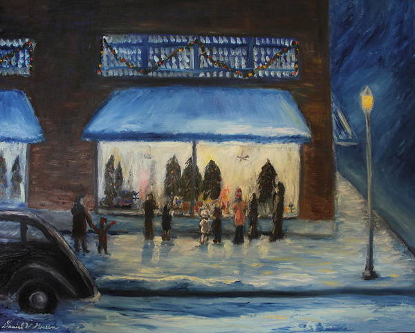 Christmas Card Art Print featuring the painting Window Wishes by Daniel W Green