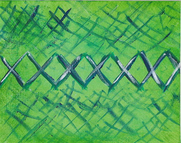 Abstract Art Print featuring the painting X Marks The Spot by Susan Rice