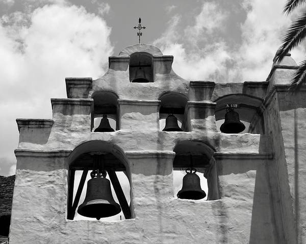 Mission San Gabriel Art Print featuring the photograph Mission Bells by Brett Harvey