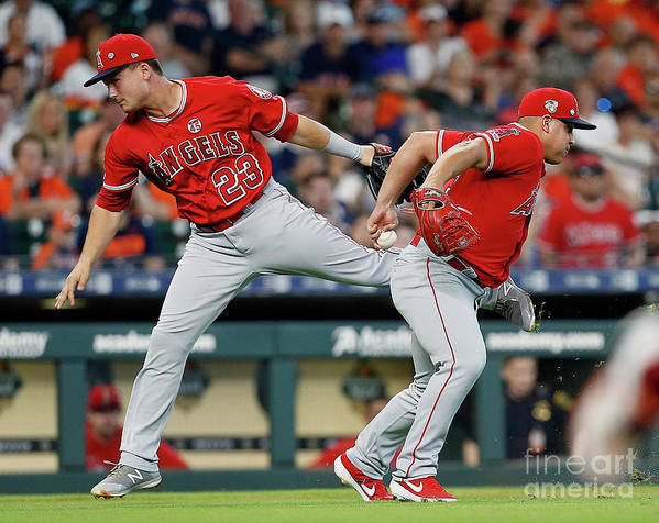 People Art Print featuring the photograph Los Angeles Angels Of Anaheim V Houston by Bob Levey