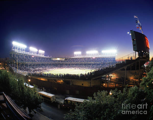 National League Baseball Art Print featuring the photograph Philadelphia Phillies V Chicago Cubs by Jerry Driendl