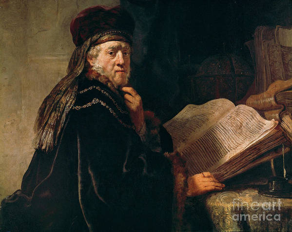 Art Art Print featuring the painting Portrait Of A Rabbi by Rembrandt