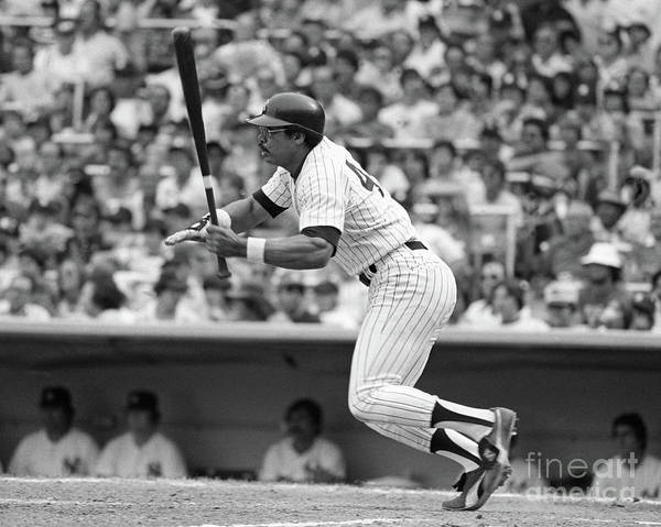 People Art Print featuring the photograph Reggie Jackson New York Yankees by Mitchell Reibel