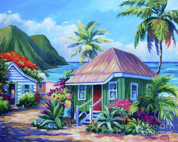 Kauai Art Print featuring the painting Simple Pleasures by John Clark
