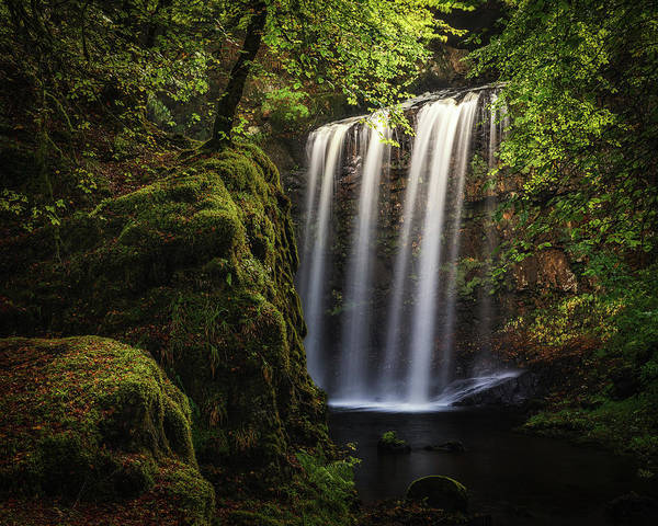Autumn Art Print featuring the photograph Dalcairney Falls by Raymond Carruthers