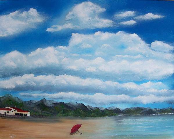 Clouds Art Print featuring the painting Clouds by Tony Rodriguez