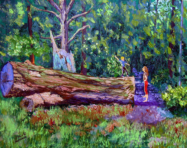 Landscape Art Print featuring the painting Sewp 6 21 by Stan Hamilton