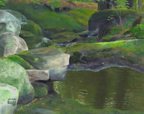 Landscape Art Print featuring the painting Beside Cool Waters by Laurel Ellis