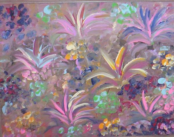 Landscape Art Print featuring the painting Flowers In Spring by Lindsay St john