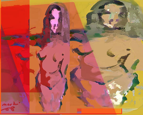 Nude Art Print featuring the painting Life Cuerve by Noredin Morgan