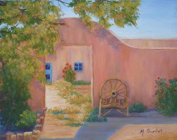 Landscape Art Print featuring the painting Southwest by Maxine Ouellet