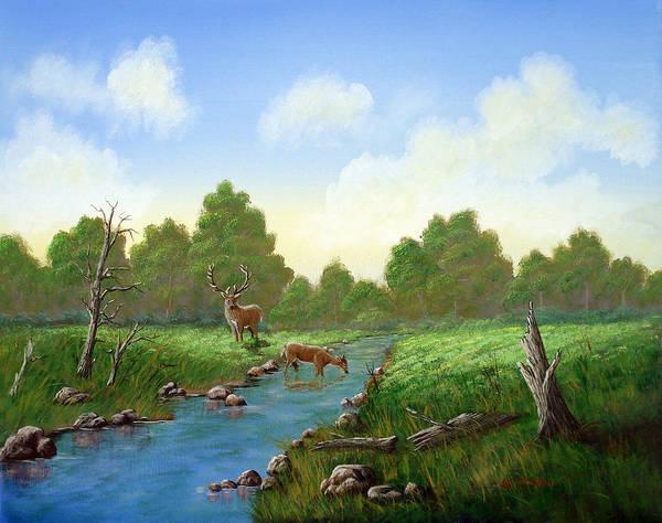 Landscape Art Print featuring the painting Standing Guard by SueEllen Cowan