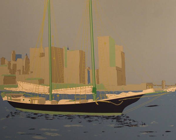 Art Print featuring the painting Two Masts by Biagio Civale