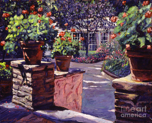 Gardens Art Print featuring the painting Bel-air Gardens by David Lloyd Glover