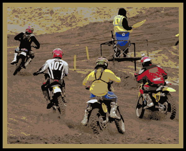 2013 Vintage Motocross Art Print featuring the photograph 044 Poster by Brian McCullough