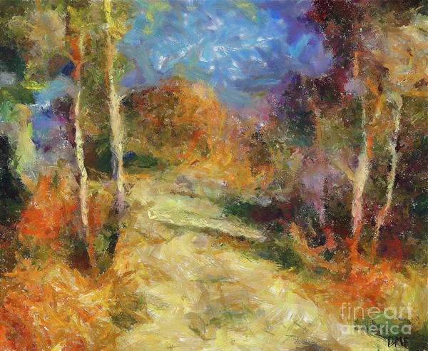 Landscapes Art Print featuring the painting Autumn Colors by Dragica Micki Fortuna