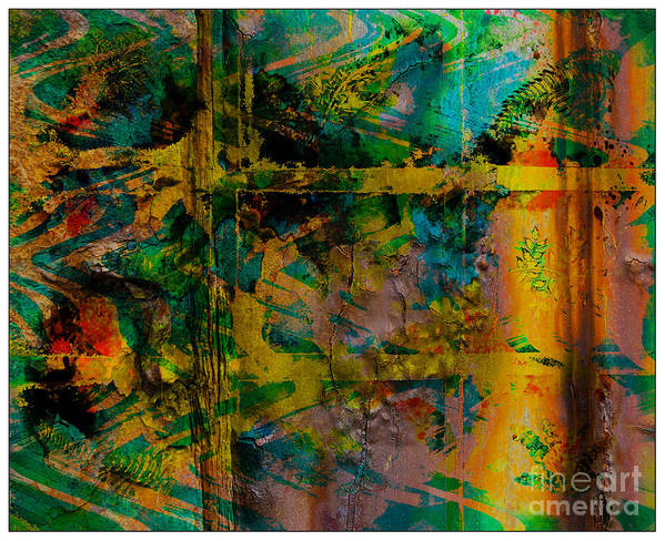 Front Art Print featuring the digital art Abstract - Emotion - Facade by Barbara Griffin
