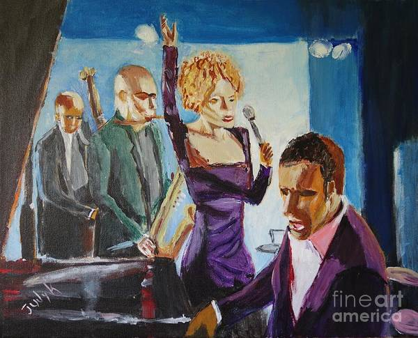 Music Art Print featuring the painting After Hours by Judy Kay