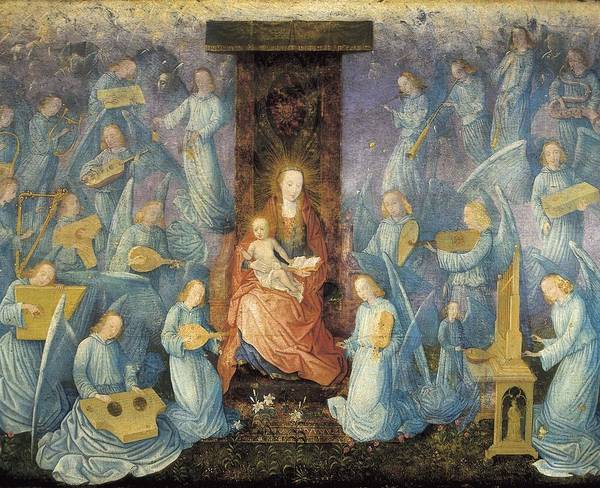 Horizontal Print featuring the photograph Angelical Concert. 15th-16th C. Flemish by Everett