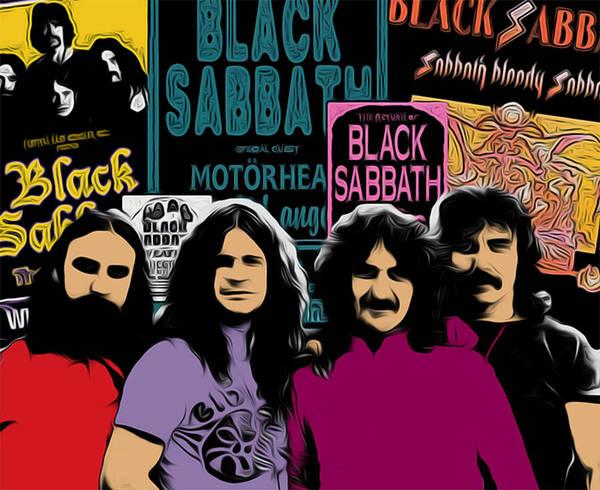 Black Sabbath Art Print featuring the digital art Black Sabbath by GR Cotler