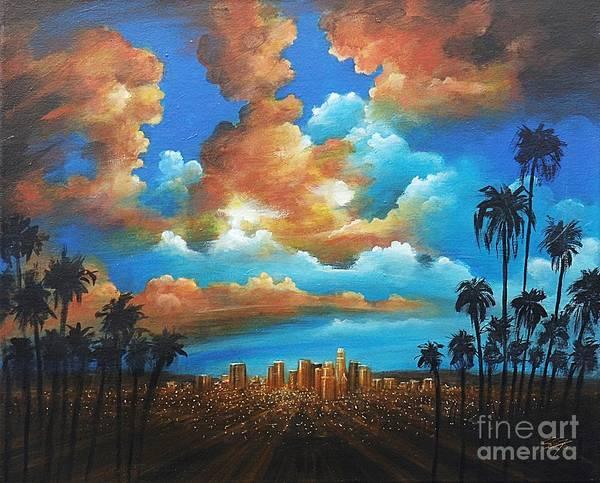 Acrylics Art Print featuring the painting City Of Angels by Artist ForYou