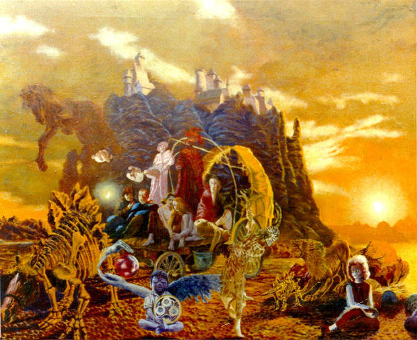 Henryk Art Print featuring the painting Constructors Of Time by Henryk Gorecki