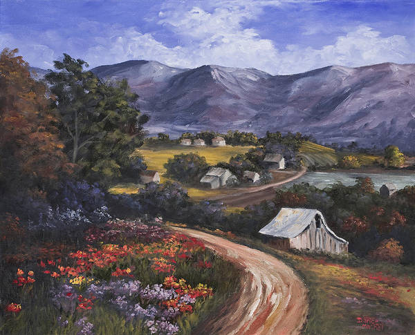 Landscape Art Print featuring the painting Country Road by Darice Machel McGuire