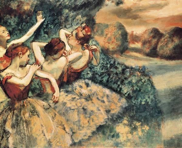 Horizontal Art Print featuring the photograph Degas, Edgar 1834-1917. Four Dancers by Everett
