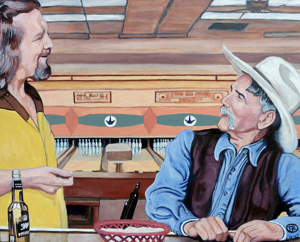 The Dude Art Print featuring the painting Dude You've Got Style by Tom Roderick