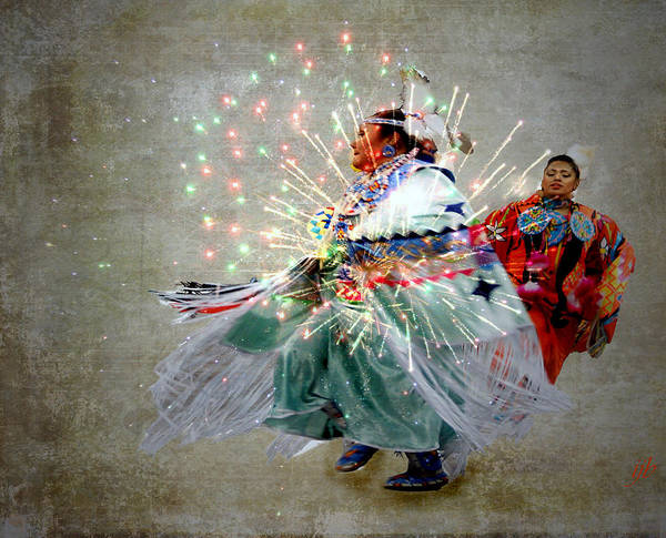Fireworks Print featuring the photograph fire Dance by Irma BACKELANT GALLERIES
