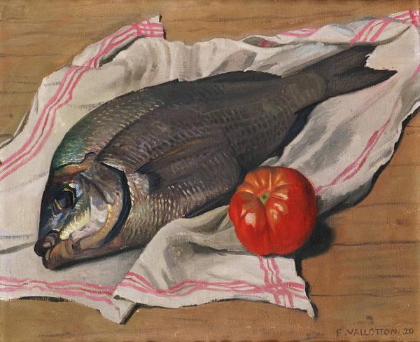 Fish Art Print featuring the painting John Dory by Felix Edouard Vallotton