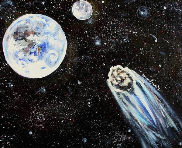 Space Art Print featuring the painting Make A Wish by Shana Rowe Jackson