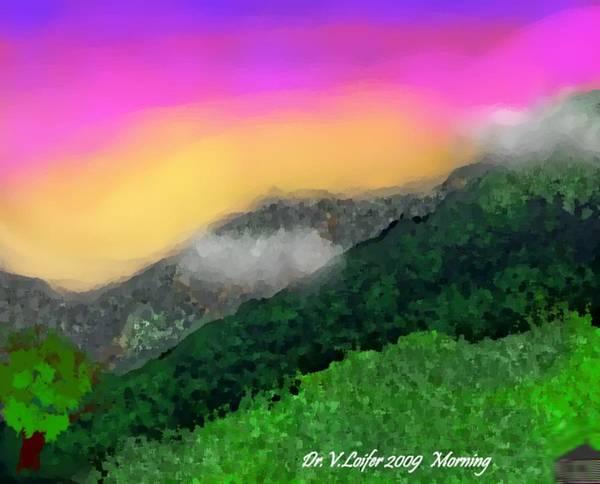 Landscape Art Print featuring the digital art Morning by Dr Loifer Vladimir