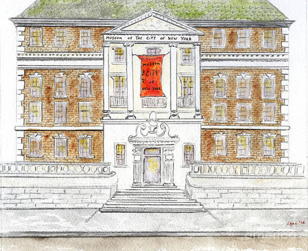 Museum Of The City Of New York Art Print featuring the painting Museum Of The City Of New York by AFineLyne