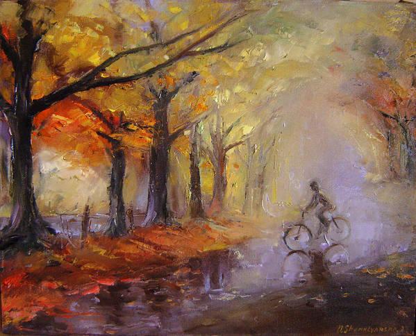 Art Art Print featuring the painting Nostalgia by Nelya Shenklyarska