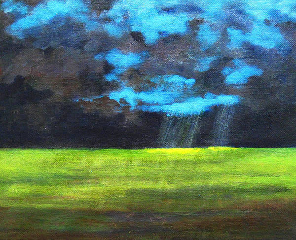 Poster Art Print featuring the painting Open Field IIi by Patricia Awapara